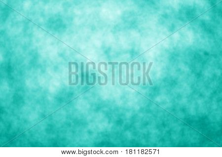 Abstract teal background or party invite for happy birthday card, sale, turquoise flyer texture, Christmas, aqua wedding watercolor pattern, mint color kid tie dye poster or backdrop