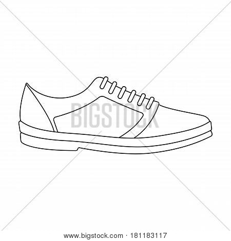 Rag camouflage sneakers for everyday wear.Different shoes single icon in outline style vector symbol stock web illustration.