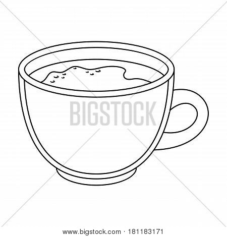 Espresso coffee.Different types of coffee single icon in outline style vector symbol stock illustration .
