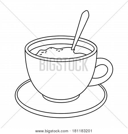 Coffee cup americano.Different types of coffee single icon in outline style vector symbol stock illustration .