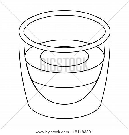 Ristretto glass.Different types of coffee single icon in outline style vector symbol stock illustration .