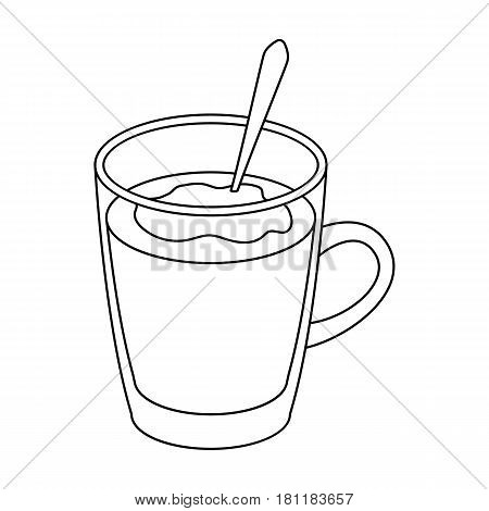 Cup of cocoa.Different types of coffee single icon in outline style vector symbol stock illustration .