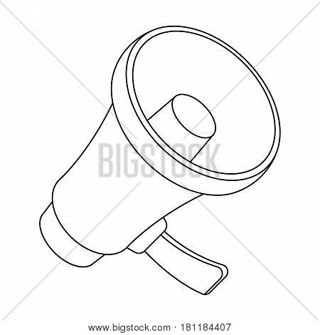 A football fan shout.Fans single icon in outline  vector symbol stock illustration.