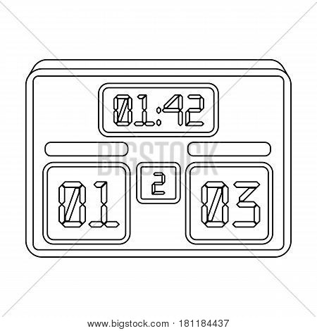 Board with a score of football.Fans single icon in outline  vector symbol stock illustration.