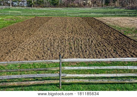 A field ready for planting at the Longstreet Historical Farm in Holmdel NJ.