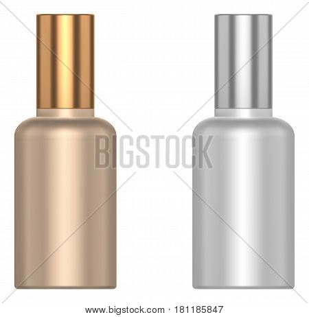 Cosmetic little bottle isolated on white background