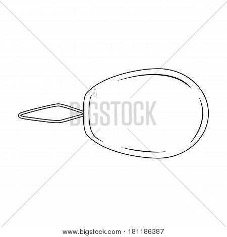 Device for threading the needle.Sewing or tailoring tools kit single icon in outline style vector symbol stock web illustration.