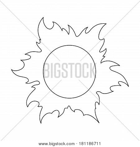 The sun is bright.Summer rest single icon in outline style vector symbol stock web illustration.