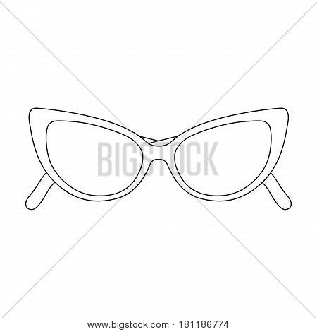 sunglasses for protection from the sun.Summer rest single icon in outline style vector symbol stock web illustration.