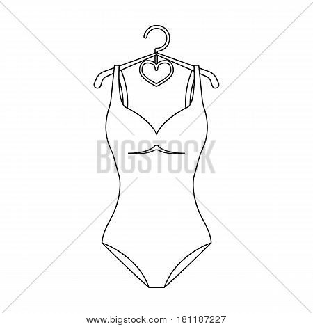 Monotone blue swimsuit for girls. Bathing clothes in the pool.Swimcuits single icon in black style vector symbol stock web illustration.