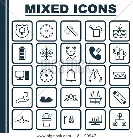 Set Of 25 Universal Editable Icons. Can Be Used For Web, Mobile And App Design. Includes Elements Such As Shop, Market Research, Ornament Watch And More.