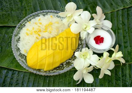 Sweet Mango With Sweet Sticky Rice.