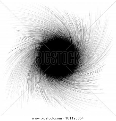 Abstract Illustration With Radial, Radiating Random Lines. Irregular Rays, Beams. Abstract Circular