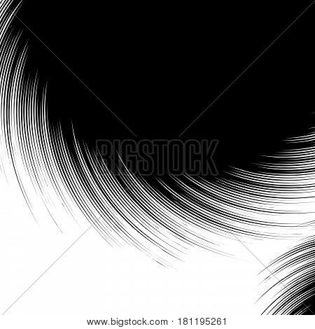 Abstract Texture / Pattern With Random Radial Shapes Overlapping. Texture With Rippled, Concentric E