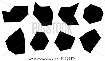 Abstract Shape Set. Contours Of Different Irregular Abstract Shapes.