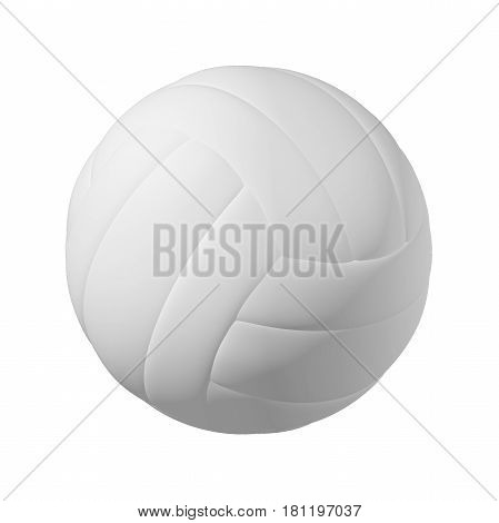 volleyball Ball with Pimples and Shadow. Realistic 3D Illustration. Isolated on White Background.