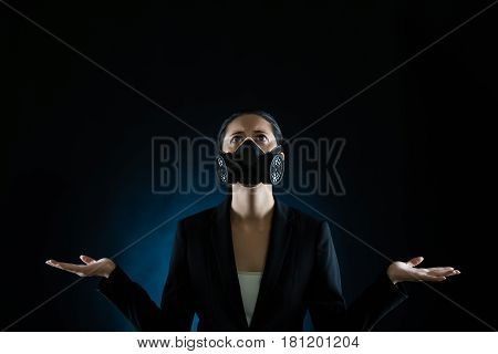 Businesswoman Pray For Pollution Environment Become Clear