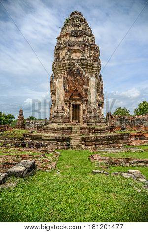 King Narai the king during Ayuthaya era ruined palace the tourist destination in Lopburi Thailand