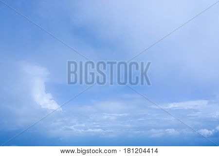 deep blue sky with some white clouds on midday