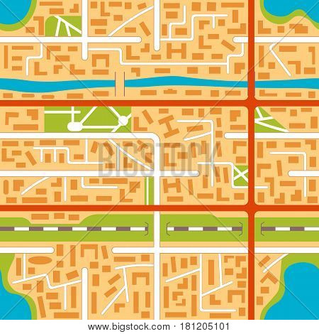 City map seamless pattern background. EPS10 vector illustration in flat style.