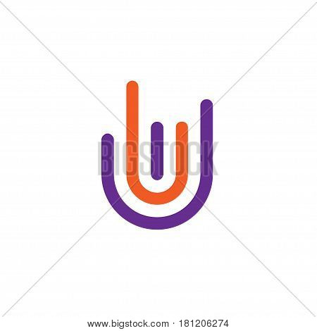 Hand gestures symbol and finger different signs logo vector line style