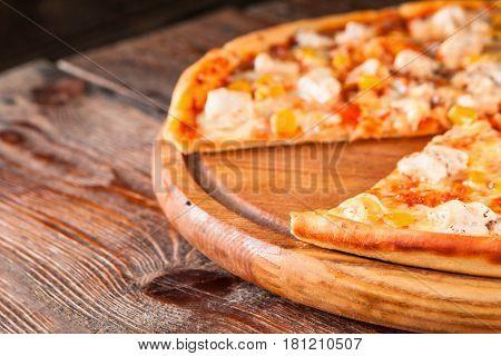 Pizza Fast Food Restaurant Menu Ingredients Italian Cuisine Concept