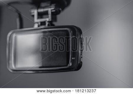 Dash cam car on board security CCTV.