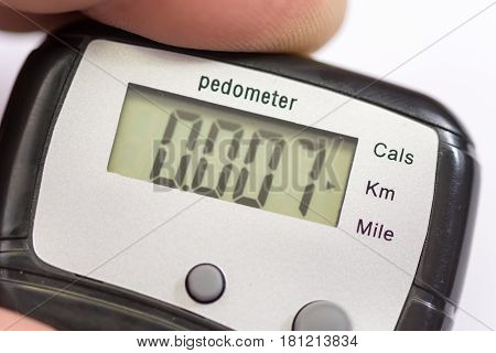 Pedometer In The Hand