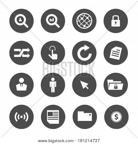Business concept with tool and people vector icon set