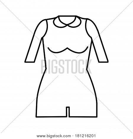 silhouette jumpsuit short cloth style, vector illustration design