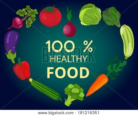 Fresh organic food.Set of vegetarian food . Vector vegetarian organic healthy food cuisine. organic natural realistic vegetable. Veggie Lover Elements