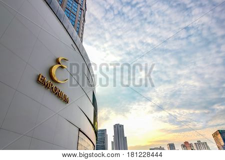 Bangkok, Thailand - November 5, 2016: The Emporium Shopping Mall, Bangkok Skylines On Sukhumvit Road