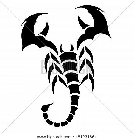 Tattoo tribal scorpion. Tribal tattoos. Art tribal tattoo. Vector sketch of a tattoo.