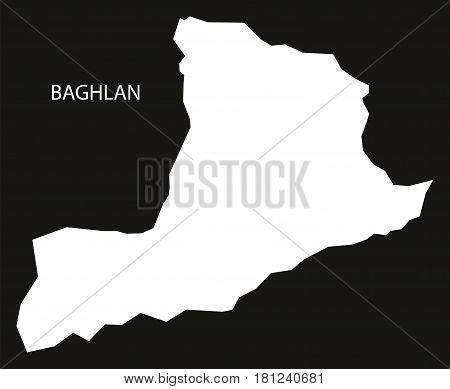 Baghlan Afghanistan Map Black Inverted Silhouette Illustration