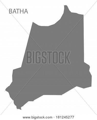 Batha Chad Region Map Grey Illustration Silhouette
