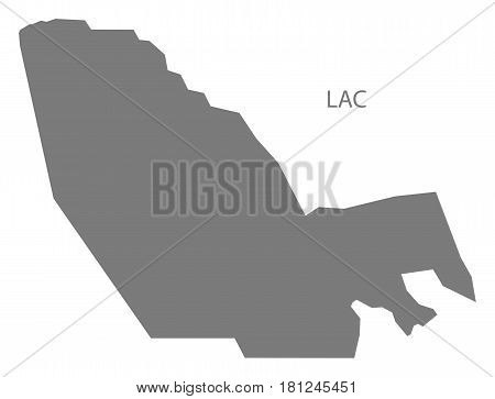 Lac Chad Region Map Grey Illustration Silhouette