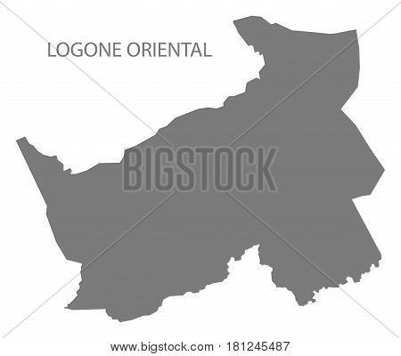 Logone Oriental Chad Region Map Grey Illustration Silhouette