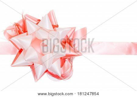 Bright gift bow isolated on white background