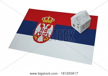 Small House On A Flag - Serbia