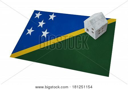 Small House On A Flag - Solomon Islands