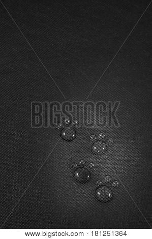 Four transparent water footprints on black background