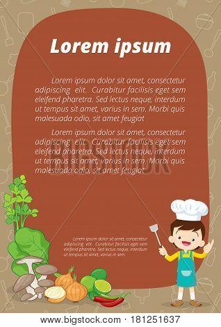 Little Chef Cartoon Template