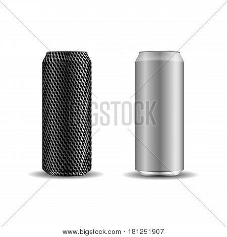 A set of realistic cans for your design. Vector illustration.