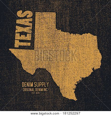 Label With Map Of Texas.