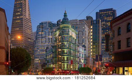 Financial district in San Francisco California USA