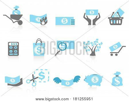 Isolated simple money icon,blue series from white