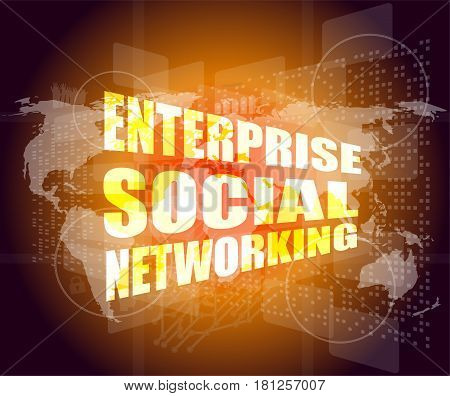 Enterprise Social Networking, Interface Hi Technology, Touch Screen