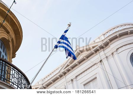 National flag of Greece. The Greek National flag