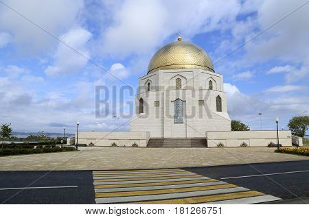 The mosque - memorial sign `The adoption of Islam`in Bolgar archaeological site in Kazan, Tatarstan, Russia