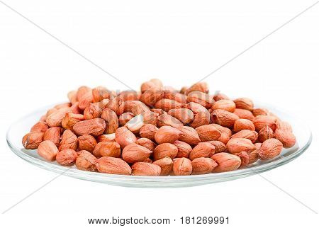 Heap Of Raw Peanuts In A Saucer